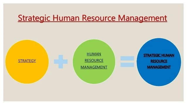 Strategic Human Resource Management And Strategic