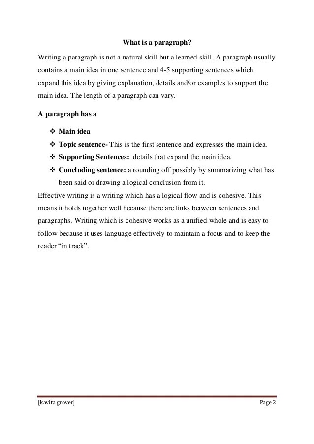 Strategies To Teach Paragraph Writing To Primary Students