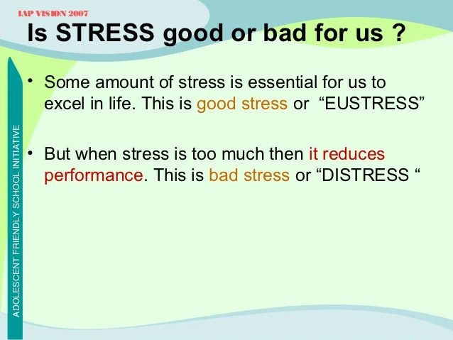 Good And Bad Stress Management Best Good 2017 – Stress Management Worksheets