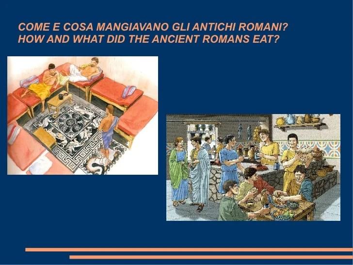 Come E Cosa Mangiavano Gli Antichi Romani?