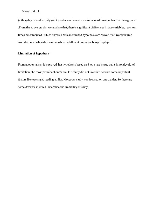 Stroop Effect Research Paper Example APA Style