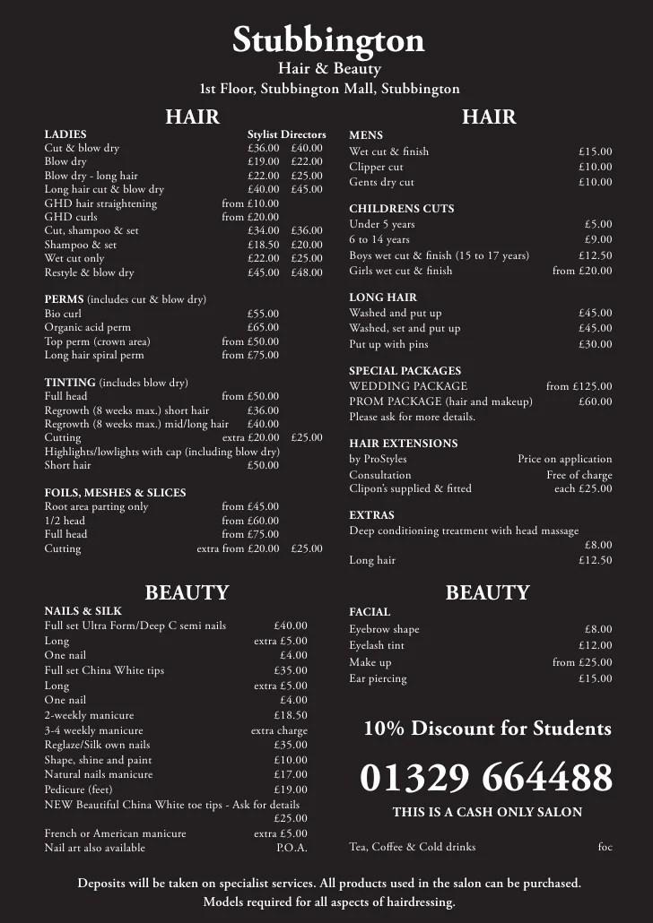 Stubbington Hair A4 Pricelist Rgb Lr