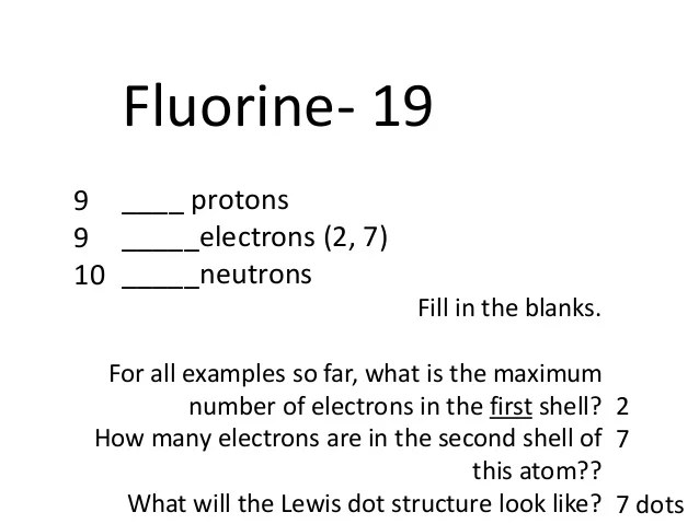 Neon Dot Structure For Fluorine