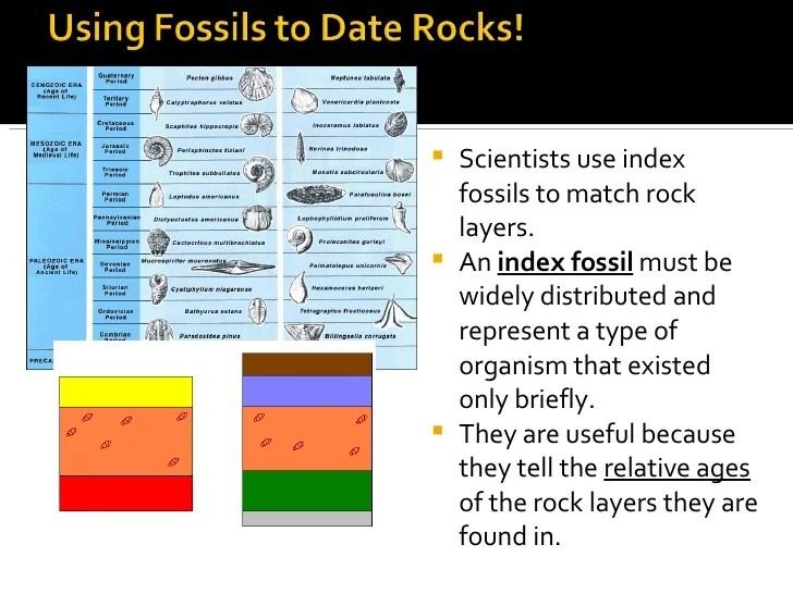 Indeks fossiler bruges i hvilken type dating
