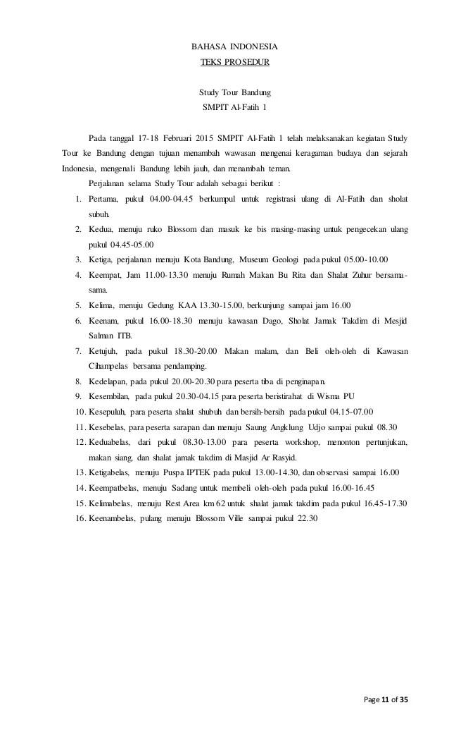 Contoh Laporan Study Tour Smp Ke Jakarta Bandung