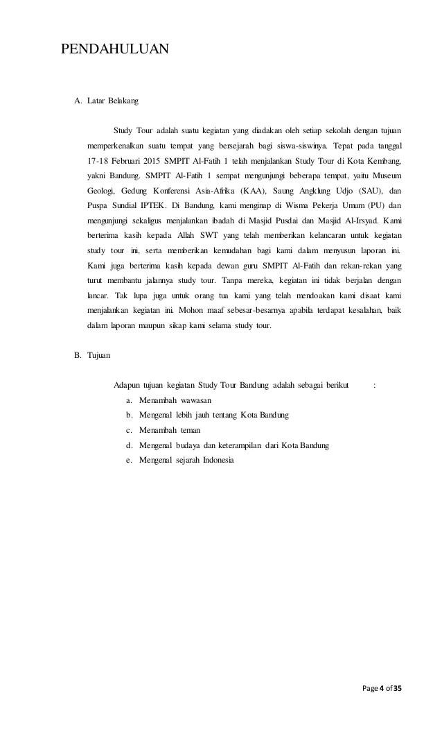 Contoh Laporan Kegiatan Study Tour Ke Yogyakarta Kumpulan Contoh Laporan Cute766