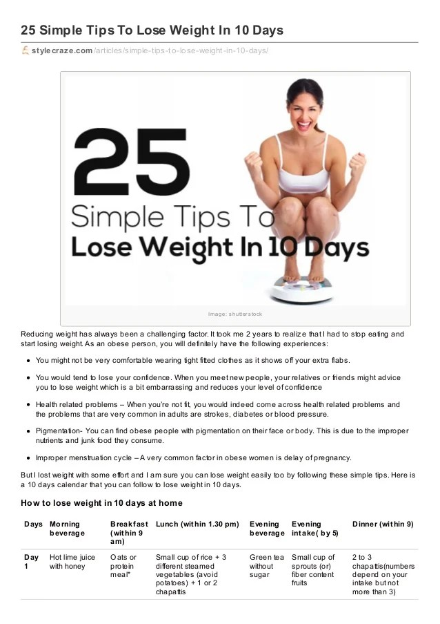 simple tips to lose weight in 10 days 1 638 cb 1391163365