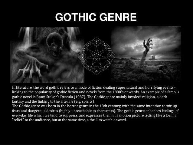 Sub Genre 1 Vampires Gothic