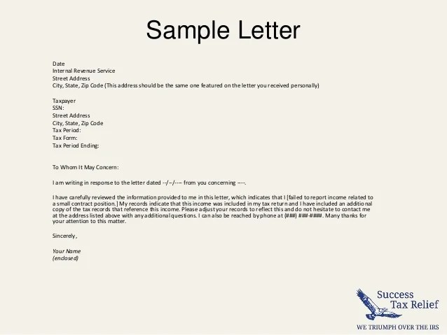 Example of Tax Exempt Letter