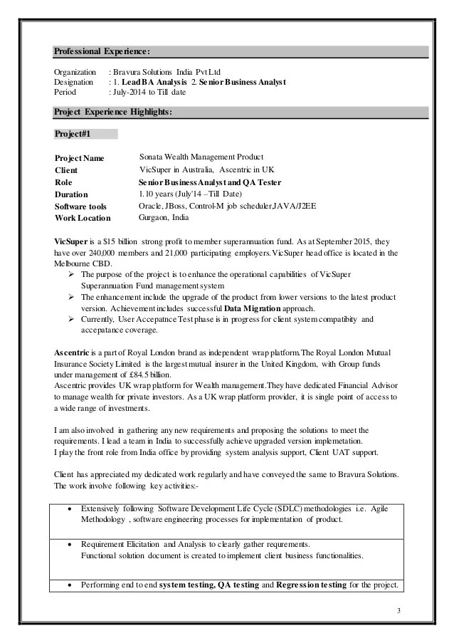 qa tester resume with 10 years experience
