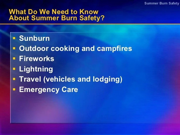 Summer safety powerpoint presentation