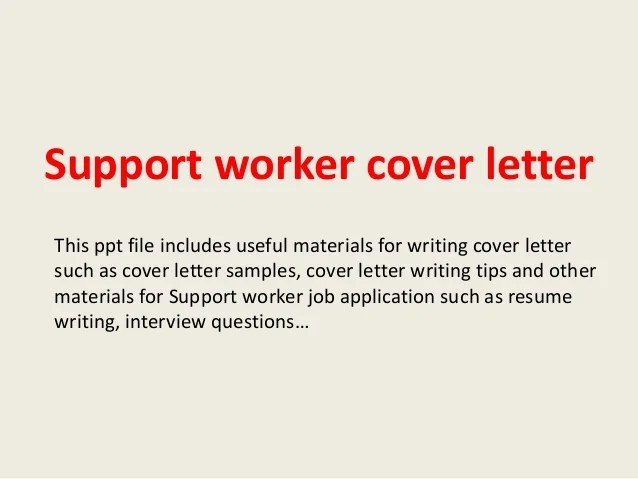 Cover Letter Examples Disability Support Worker | Sample ...