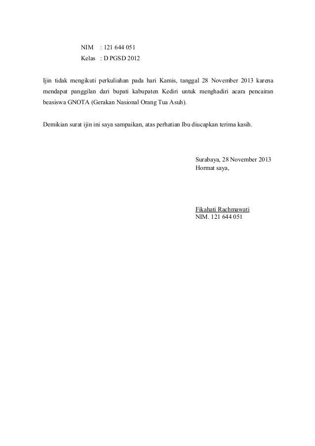 Surat Izin Bahasa Jawa : surat, bahasa, Contoh, Surat, Tidak, Masuk, Sekolah, Bahasa, Download, Lengkap, Gratis, ✔️