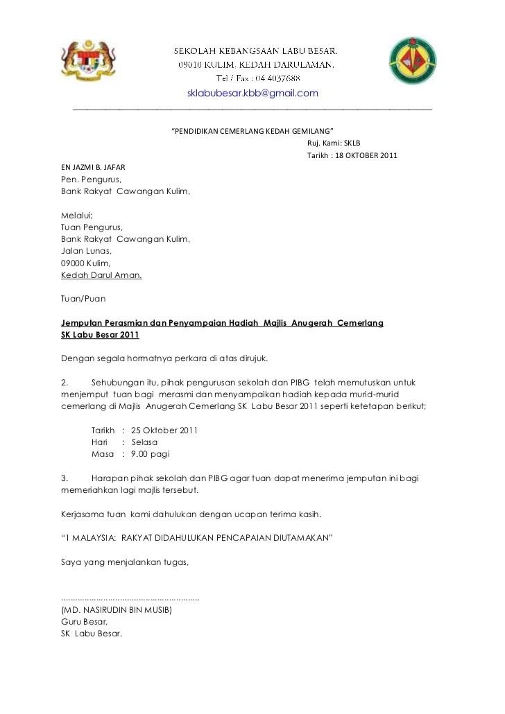 Contoh Surat Rasmi Jemputan Perasmian Contoh 36 Cute766