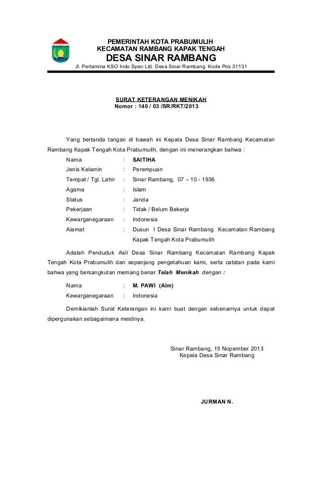 Surat Pernyataan Nikah : surat, pernyataan, nikah, Surat, Keterangan, Menikah, Cute766