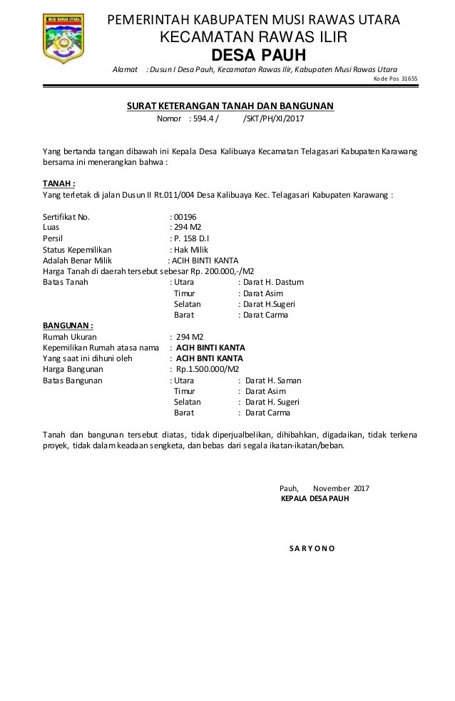 Ulasan lengkap : Surat Kepemilikan Tanah atau Surat