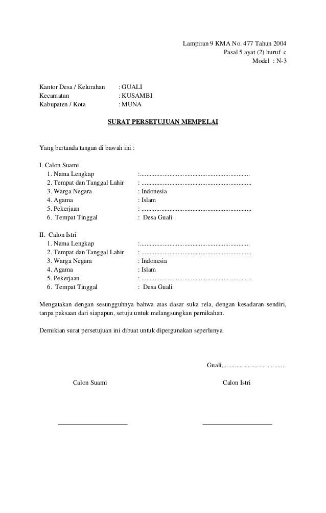 Surat Pernyataan Nikah : surat, pernyataan, nikah, Pendidikan:, Contoh, Surat, Nikah