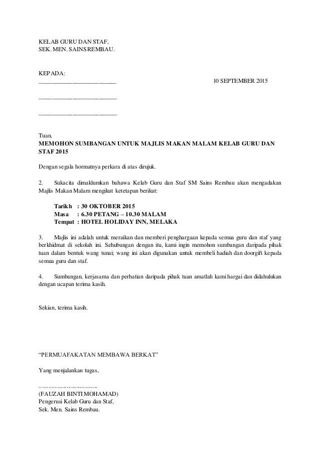 Contoh Surat Mohon Sumbangan Oto Section