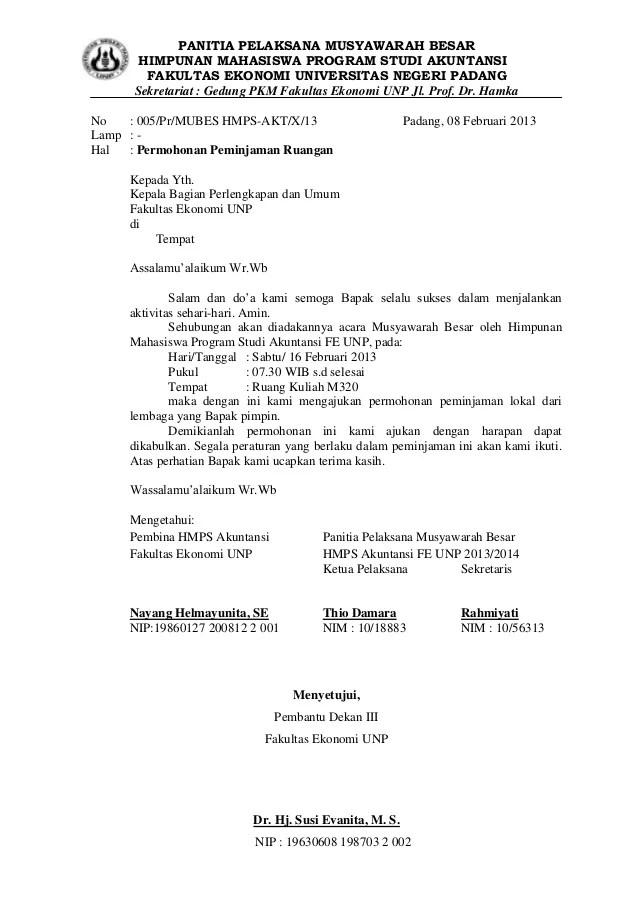 Download Contoh Surat Peminjaman Barang .DOC