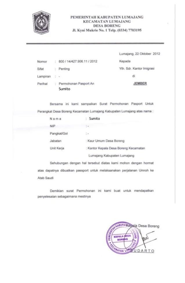 Contoh Surat Kuasa Untuk Pembuatan Paspor - Contoh Surat