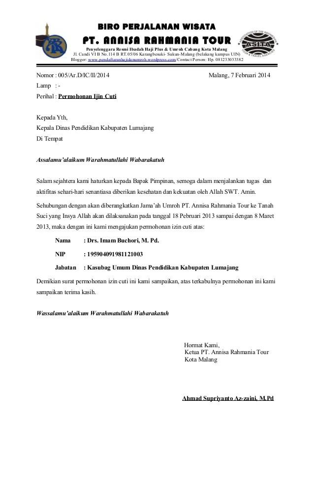 Contoh Surat Permohonan Izin Ibadah Umroh | Site Title