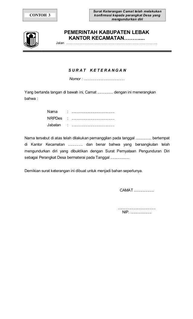 Contoh Surat O