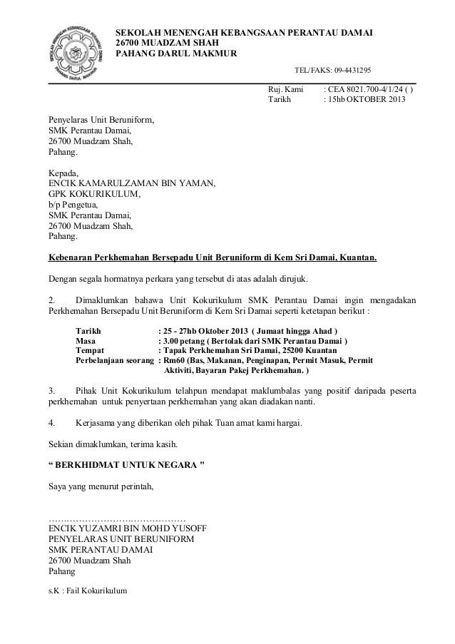 Contoh Surat Rasmi Maklum Balas Cards Of