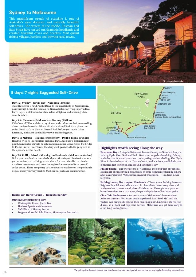 Sydney & Melbourne Brochure 2017