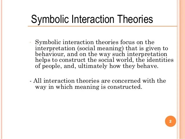 Symbollic Interactionism In Sociology