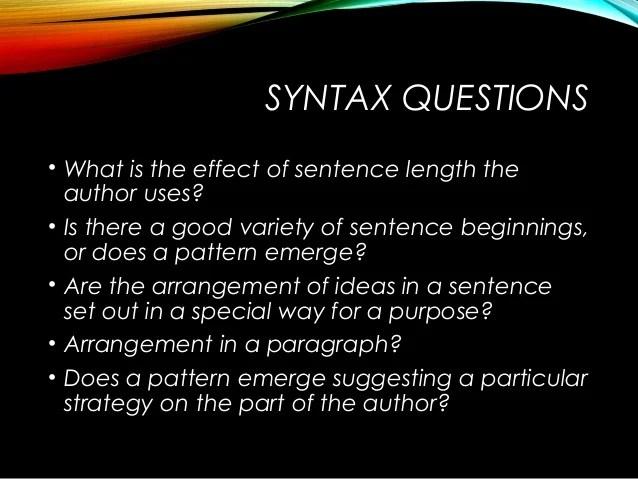 Syntax sentence construction-motheo mkize