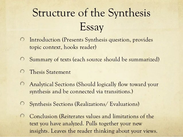 Synthesis Essays Synthesis Essay Thesis Topics Outline Essaypro Quiz