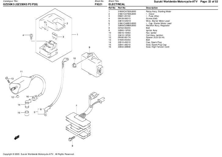 SUZUKI T250 MANUAL  Auto Electrical Wiring Diagram