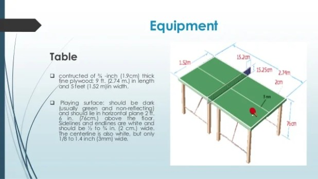 Ping pong table dimensions in feet - Table tennis table size and specifications ...