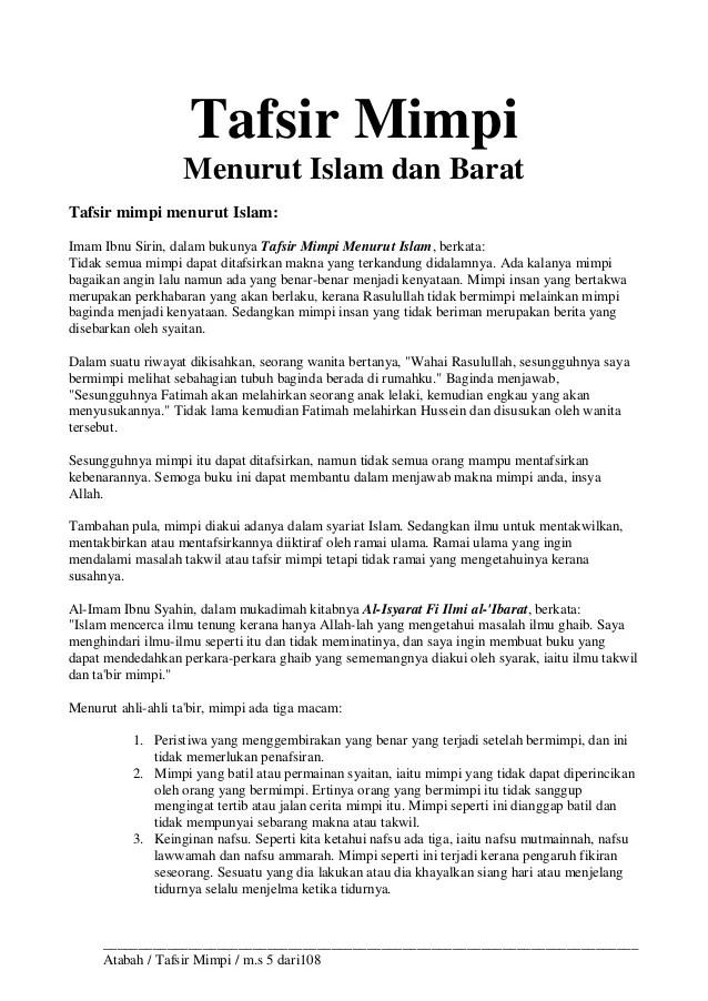 Mimpi Melihat Orang Meninggal Menurut Islam : mimpi, melihat, orang, meninggal, menurut, islam, Tafsir, Mimpi