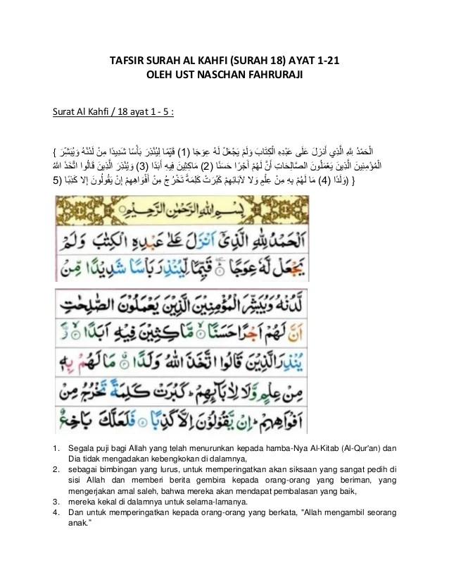 Al Kahfi Berapa Ayat : kahfi, berapa, Tafsir, Surah, Kahfi