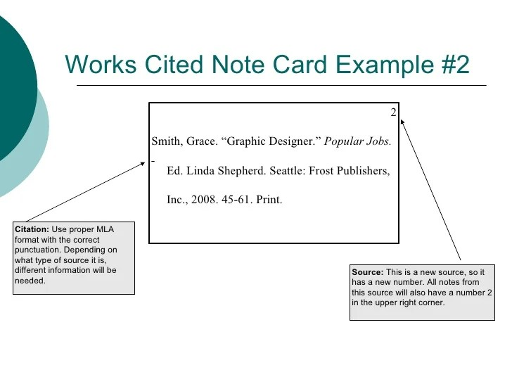 Mla Format Note Card Hizli Rapidlaunch Co