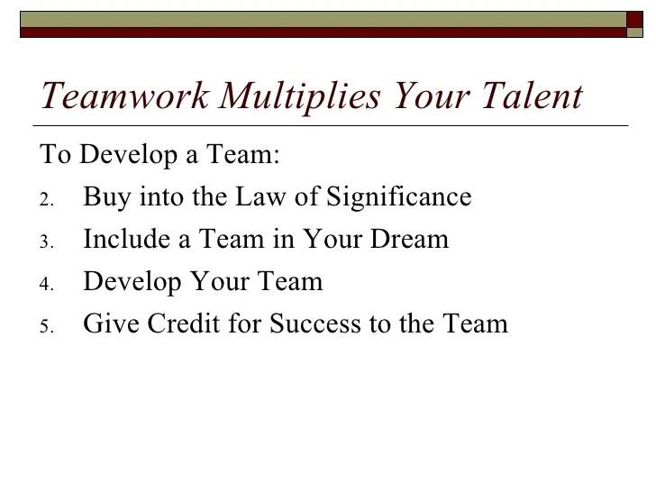 Teamwork Divides Effort