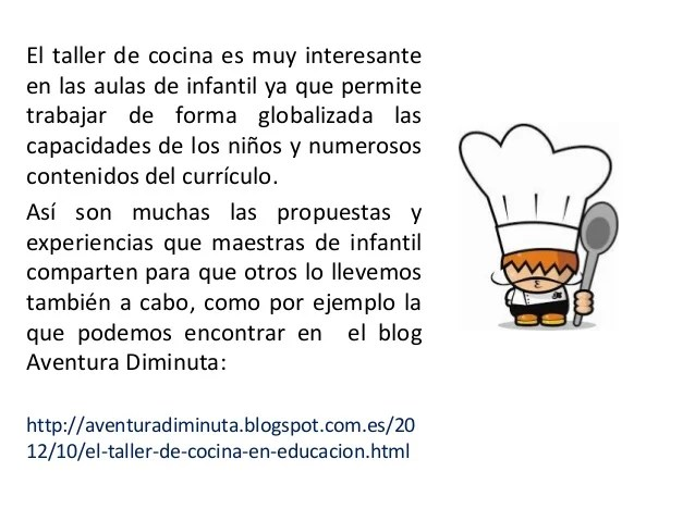 Taller cocina en Educacin Infantil