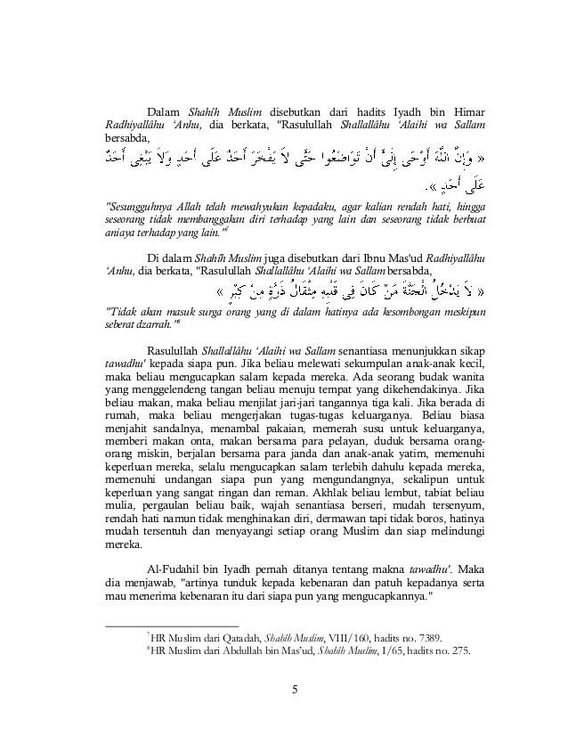 Dalil Tentang Tawadhu : dalil, tentang, tawadhu, Tawadhu', (rendah, Hati)