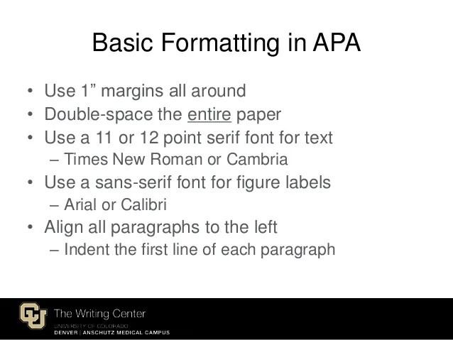 formatting apa