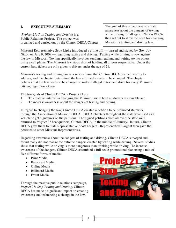 Sample Public Relations Project PRP