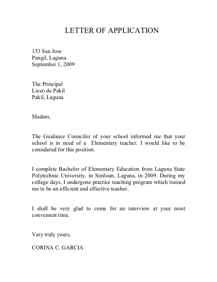 Application Letter Example Cover Letter Example Receptionist