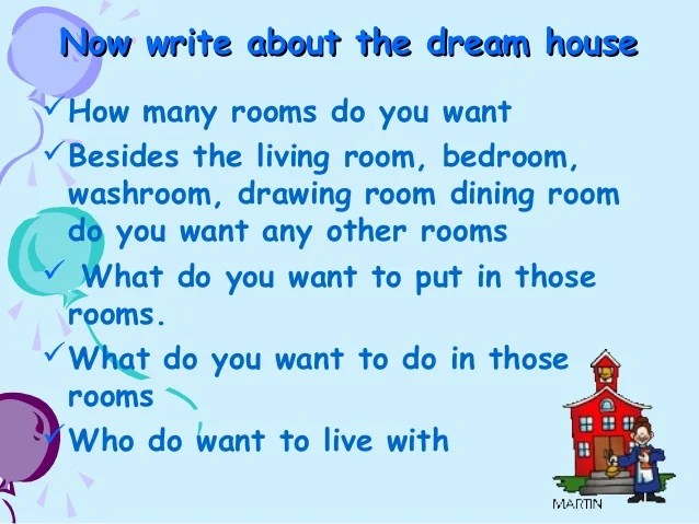 My dream house essay for kids