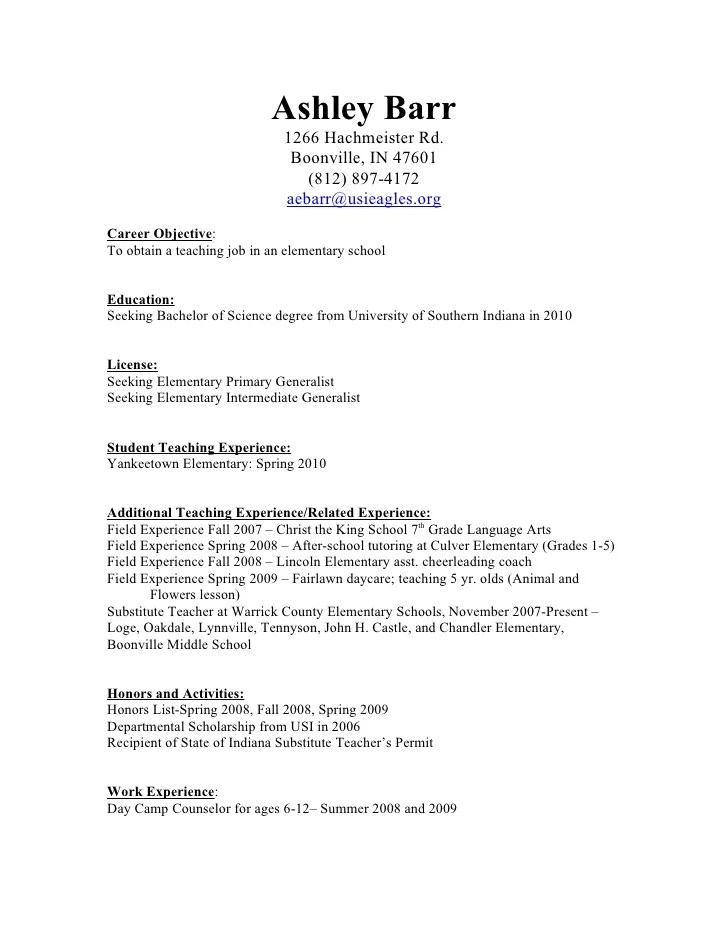 Resume Example For Daycare Teacher - frizzigame