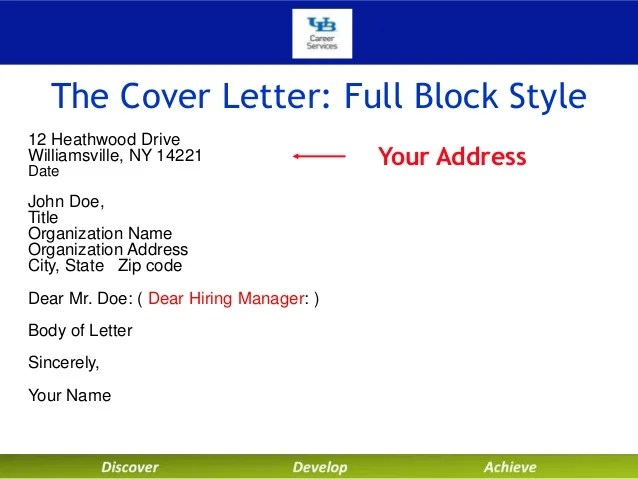 cover letter company address