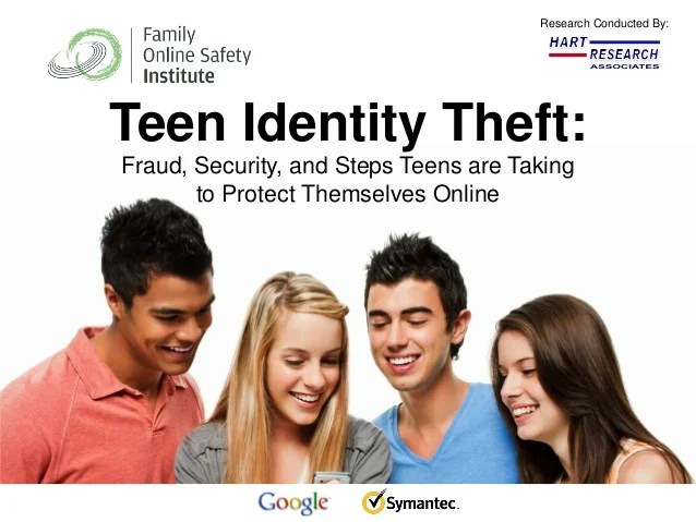 Teen Identity Theft Presentation Family Online Safety