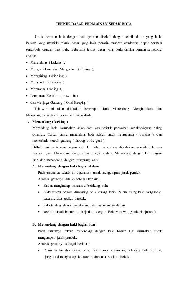 Sebutkan Teknik Permainan Sepak Bola : sebutkan, teknik, permainan, sepak, Sebutkan, Teknik, Menahan, Dalam, Permainan, Sepak
