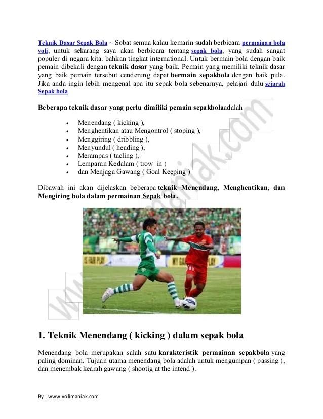 Teknik Dasar Pemain Sepak Bola : teknik, dasar, pemain, sepak, Teknik, Dasar, Sepak, Www.volimaniak.com