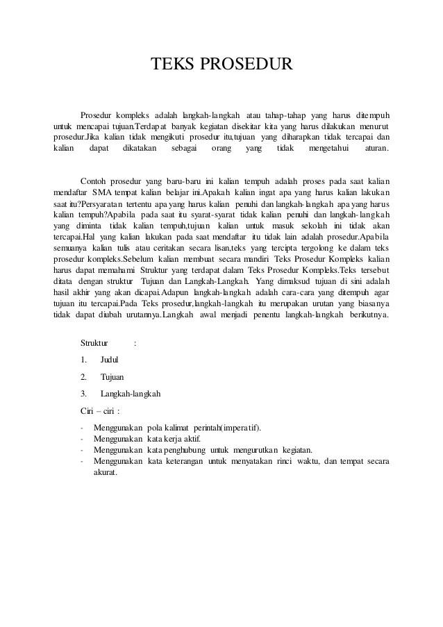 Kalimat Perintah Dalam Teks Prosedur : kalimat, perintah, dalam, prosedur, Prosedur