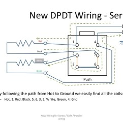 Dpdt Slide Switch Wiring Diagram 1992 Honda Accord Series / Parallel For 4-conductor Humbucker Pickups